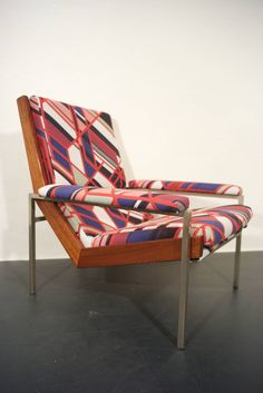 Rob Parry 'Lotus' Armchair Upholstered in a Fabric by Sarah Morris 6