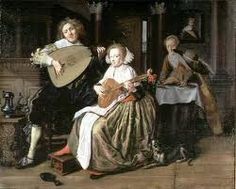 "Jan Miense Molenaer ""A Young Man Playing a Theorbo and a Young Woman Playing a Cittern"""