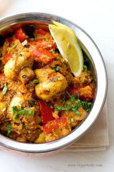 {India} Mushroom Tikka Masala Recipe by Veggie Belly. You can make vegan/vegetarian version of Tikka Masala with mushroom!