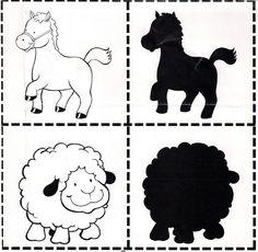Игра для развития памяти и внимания Montessori Activities, Preschool Themes, Activities For Kids, Farm Lessons, Kindergarten, Farm Day, Quiet Book Templates, File Folder Activities, Farm Unit