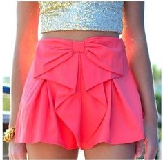 Pink shirts with bow