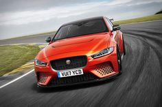 Built upon the award-winning XE compact sedan, the Jaguar XE SV Project 8 is the most powerful car ever from the British manufacturer. It's powered by a 5.0L supercharged V8 making over 590 hp, good enough to hit 200 mph...