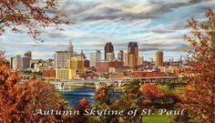 Autumn Skyline of St