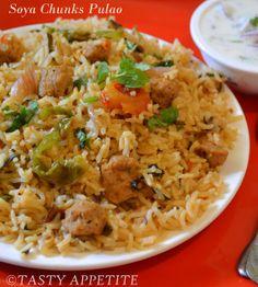 Soya Chunks Recipe, Paneer Pulao, Veg Pulao, Biryani, Indian Food Recipes, Vegetarian Recipes, Cooking Recipes, Ethnic Recipes