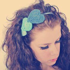 Crochet Hearts Headband - Picture Idea
