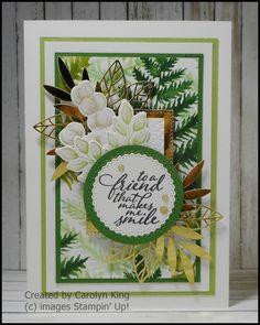 Mat 10, Green Mat, One Sheet Wonder, Specialty Paper, Some Cards, Embossing Folder, Ferns, Flourish, Stampin Up Cards