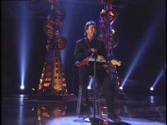 Vince Gill at the 40th GRAMMY Awards performing Adriana