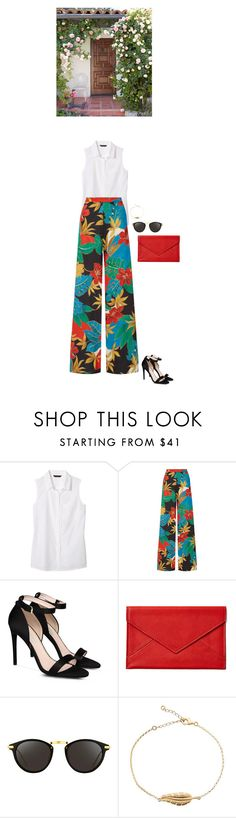 """""""I'm back"""" by blueeyed-dreamer ❤ liked on Polyvore featuring Banana Republic, Alice + Olivia, STELLA McCARTNEY, Graphic Image and Linda Farrow"""