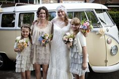 vintage bridesmaid dresses! Cute bridesmaid dresses!! Horrible wedding dress!