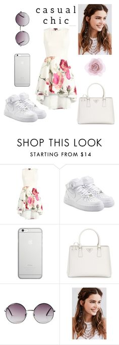 """""""Dress code: 50"""" by mellstyler ❤ liked on Polyvore featuring NIKE, Native Union, Prada, Monki, REGALROSE and Accessorize"""