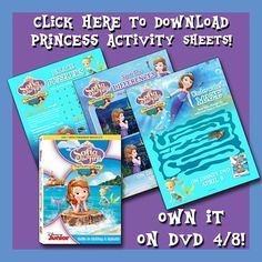 Time for underwater fun! In celebration of today's release of SOFIA THE FIRST: THE FLOATING PALACE on DVD now, April 8th, we're flipping our fins to share these fun activity sheets and one last clip with you!     Film Clip: Merroway Cove