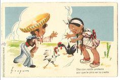 POSTAL - EDICIONES COLÓN - POLITIPIA ARTÍSTICA BENISI - SERIE 121 / 1 - ILUSTRADOR MOURO (Postales - Dibujos y Caricaturas)
