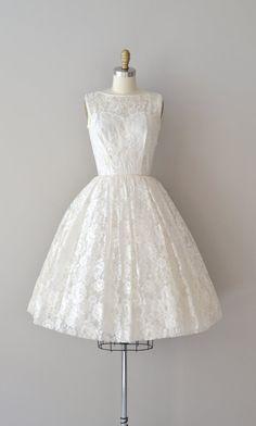 lace 50s wedding dress / 1950s dress / Be Near Me by DearGolden, $265.00