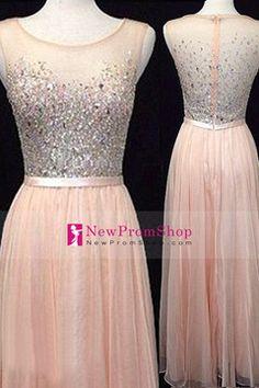 Evening Dresses A Line Scoop Sleeveless Floor Length Tulle With Rhinestone