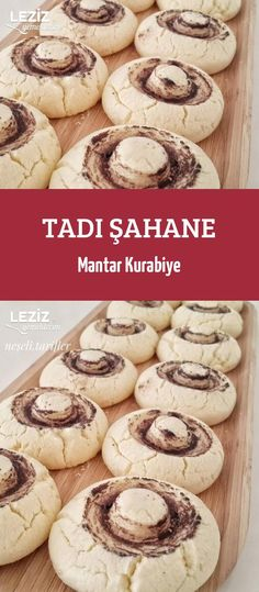 Tadı Şahane Mantar Kurabiye - Leziz Yemeklerim - New Ideas Cookie Recipes, Dessert Recipes, Desserts, Turkish Cookies, Biscuits, Tasty, Yummy Food, Chops Recipe, Comfort Food