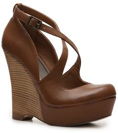 Mia Flamenco Wedge Pump - Cognac @ DSW - Will be ordering these - OC