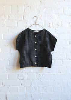 Primoeza Evie Button Up Top - Charcoal Check~Wednesday Sewing Clothes, Diy Clothes, Clothes For Women, Casual Outfits, Cute Outfits, Fashion Outfits, Design Textile, Refashion, Dressmaking