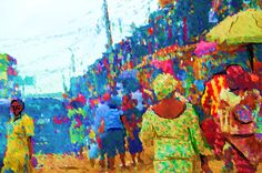 """MARKET LANE"" Digital art of a scene from the popular 'Oshodi Market' in Lagos Nigeria."