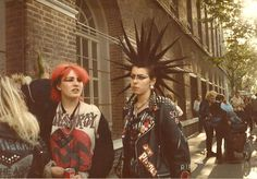 Extreme hair statement, Kings Road, Chelsea, London, 1982