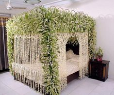 Bed Decoration For Wedding Night Dream Rooms, Dream Bedroom, Pretty Bedroom, Bedroom Themes, Bedroom Decor, Bedroom Ideas, Bed Ideas, Bedroom Designs, Modern Bedroom