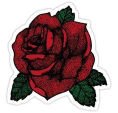 TATTOO ROSE Stickers