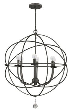 Buy the Crystorama Lighting Group English Bronze Direct. Shop for the Crystorama Lighting Group English Bronze Solaris 6 Light Wide Cage Chandelier with Clear Glass Drops and save. Ring Chandelier, Silver Chandelier, Globe Chandelier, Chandelier Lighting, Vanity Lighting, Chandelier Ideas, Industrial Chandelier, Outdoor Chandelier, Industrial Lighting
