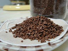 O granulado de chocolate do brigadeiro gourmet