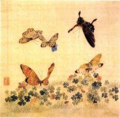 남계우 <화접도> 19세기 후반. 견본채색. 27.0 x 27.0cm. 호암 미술관.