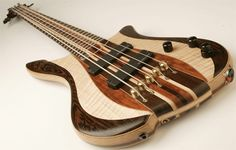 Carefully joined body of various woods, through body neck design.