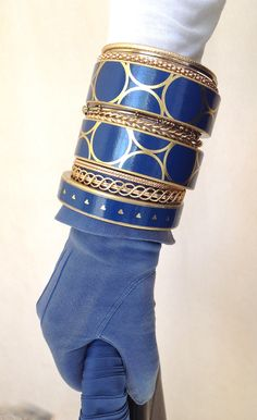 Be bold with Blue-Bangles by Chauci Charvet