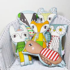 Woodland Winterland Softies via Julia Staite. Click on the image to see more!