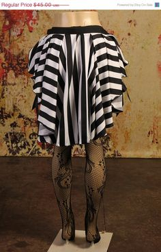 Black and White Circus Stripe Bounteous Ruffle Belt by Damsel in this Dress