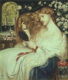"""""""Lady Lillith"""" par Rossetti en 1867"""