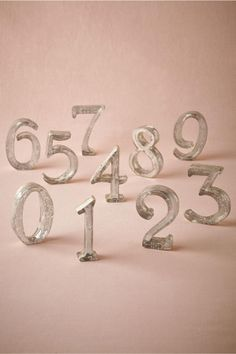 product | Mercury Glass Table Numbers from BHLDN