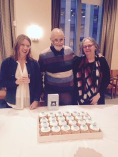 Bestselling author Alan Bradley celebrated the publication of 'As Chimney Sweepers Come to Dust,' the seventh novel in his series featuring Flavia de Luce, at Random House's New York offices. Pictured (l. to r.): Jennifer Hershey, senior v-p, editor in chief, and associate publisher at Ballantine Bantam Dell; Bradley; and Kate Miciak, v-p, editorial director of Ballantine Bantam Dell and Bradley's editor.  Photo: Susan Corcoran