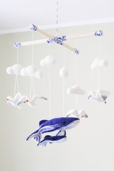 Nautical baby mobile, Sea Ocean Needle Felted Baby Mobile, Nursery Decor, Baby Shower Gift, Crib Baby Mobile  This cute baby mobile will be a