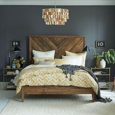Modern Rustic Bedroom Furniture Decorating Your Bedroom With Rustic Touch Modern Rustic Bedroom Furniture. You may wish to have a minimalistic bedroom with just a mattress and a lamp, or a fully fu… Home Bedroom, Bedroom Decor, Bedroom Ideas, Beds Master Bedroom, Modern Bedroom, Bed Room, Headboard Ideas, Bedroom Curtains, Bedroom Classic