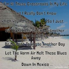 "-- #LyricArt for ""Beer In Mexico"" by Kenny Chesney"