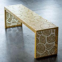 Panchina LEAVEN 120 In Acciaio, Medes Metal Design