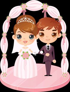 Tips For Putting Together A Successful Wedding Day. Wedding planning can be as difficult as it is stressful. Love Cartoon Couple, Cute Cartoon Girl, Romantic Couples, Wedding Couples, Happy Birthday Art, Wedding Ideias, Coral Wedding Flowers, Happy Wedding Day, Creative Wedding Invitations
