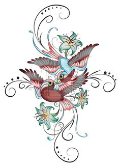 two sparrows in a hurricane tattoo | Enchanted Sparrows by *ArtistikImagez on deviantART