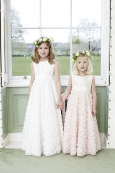 .Inspirational, Unique Flower girl Dress Designs by Nicki MacFarlane - Odette Dress - http://www.nickimacfarlane.com