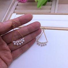 Diy Earrings Pearl, Bridal Earrings, Etsy Earrings, Bridal Jewelry, Diy Earrings With Beads, Pearl Drop Earrings, Handmade Wire Jewelry, Earrings Handmade, Beaded Jewelry