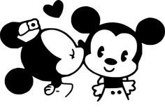 Baby+mickey+mouse+and+minnie+mouse+kiss+by+SkyWallVinylDecals,+$3.00