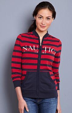 Women's Nautica Zip Sweat Shirt - Nautica.com