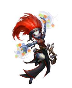 Female Gnome Sorcerer - Pathfinder PFRPG DND D&D d20 fantasy