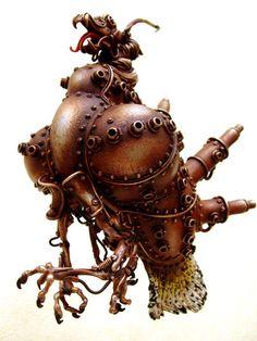 Steampunk Sculpture by Michihiro Matsuoka