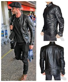 http://www.bontonwear.com/products.php?product=Brazil-Airport-David-Beckham-Jacket  #BrazilAirport #DavidBeckham Leather Jacket our at #onlineshop BontonWear.Com discounted Price Offer with free shipping worldwide.