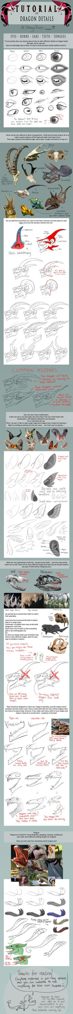 TUTORIAL: Dragon Details by SammyTorres.deviantart.com on @deviantART