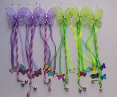 Fairy Pixie Wand Birthday Favor Costume Accessory Tinker Bell Inspired Green…